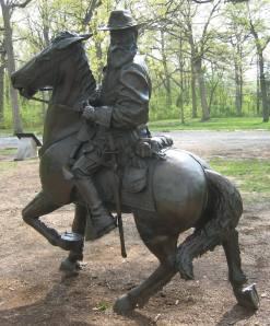 General Longstreet's monument in Gettysburg