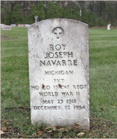 Roy Navarre headstone